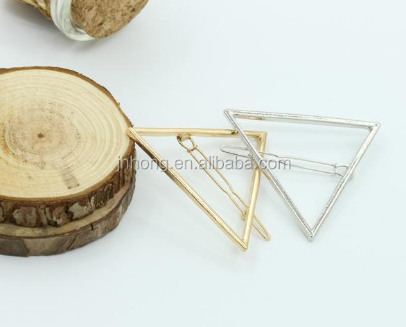 Fashion jewelry vintage Gold Hair Clip Charm Metal Hairpins For Women