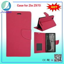 Custom Made Mobile Phone Pu Leather Case Wallet for ZTE z970