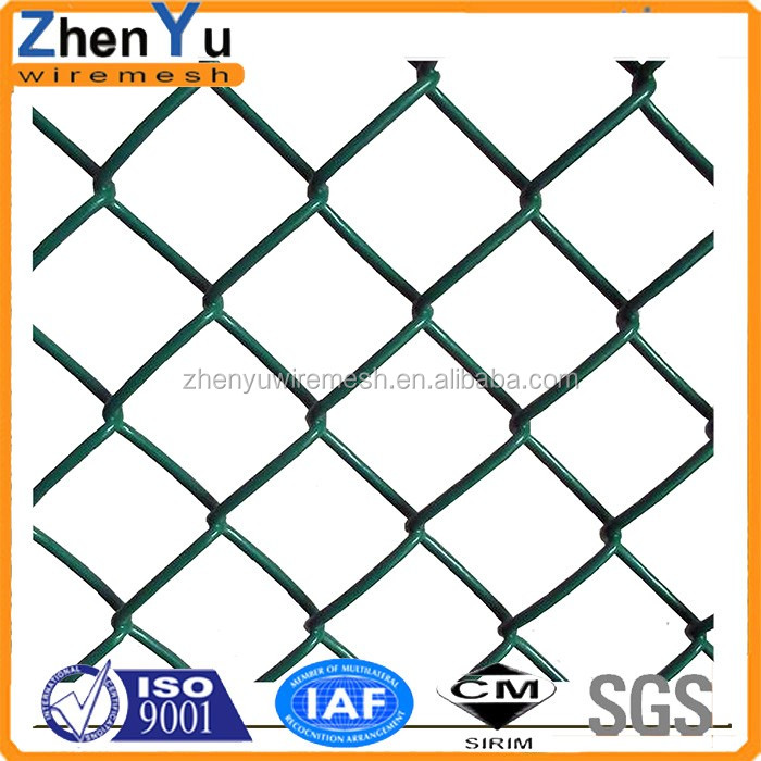 4 5 6 7 8 foot width chain link mesh fence plastic galvanized coated chain link fence for sale