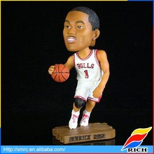 2017 Customized 3d bobble head figure basketball player bobblehead