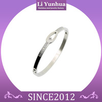 Superior Quality 316L Stainless Steel Jewelry Couple Making Bangle With Zircon Sexy Bangles