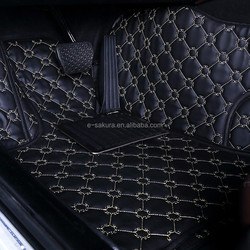 Creative plum pattern waterproof leather car mat for VOLVO S40