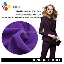 64%polyester 33%rayon 3%sp TR plain two-way spandex Fabric for uniform trousers