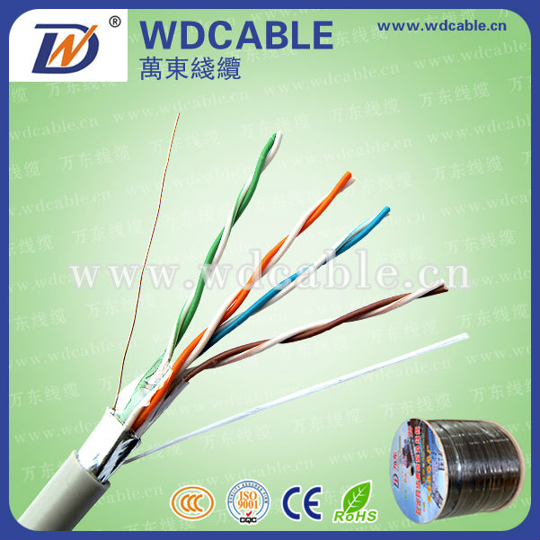 stable quality utp/ftp/sftp cat 5 ccc lan cable