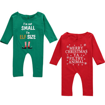2017 ins autumn winter infant toddlers clothing baby boys girls merry christmas long sleeved climb rompers
