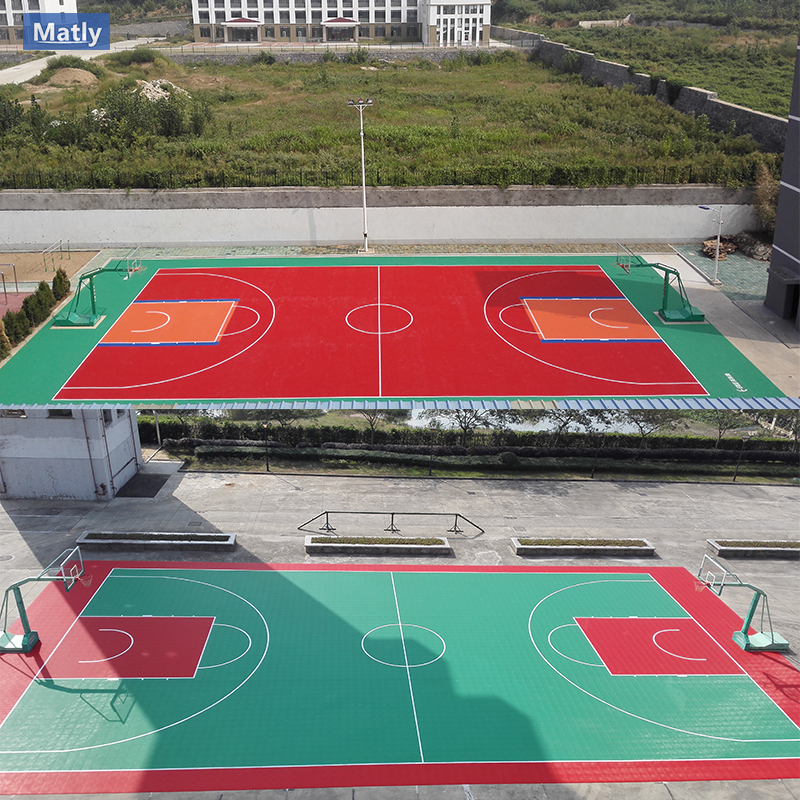 Outdoor Portable Interlocking Sports Flooring for Basketball Court