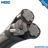 Stranded Aluminum Conductor Type and Insulated Type aerial boundle abc cable with bare neutral message