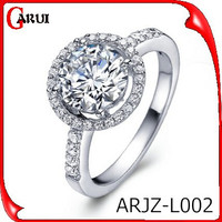 Fashion joyas pave setting diamond vintage wedding rings hot sale