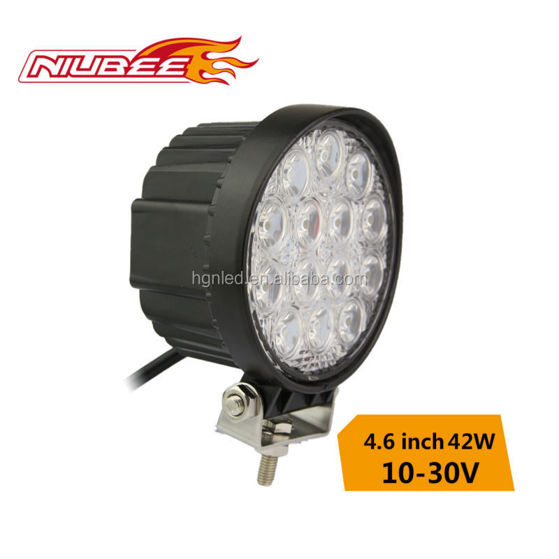 42w led work lamp driving on car motocycle