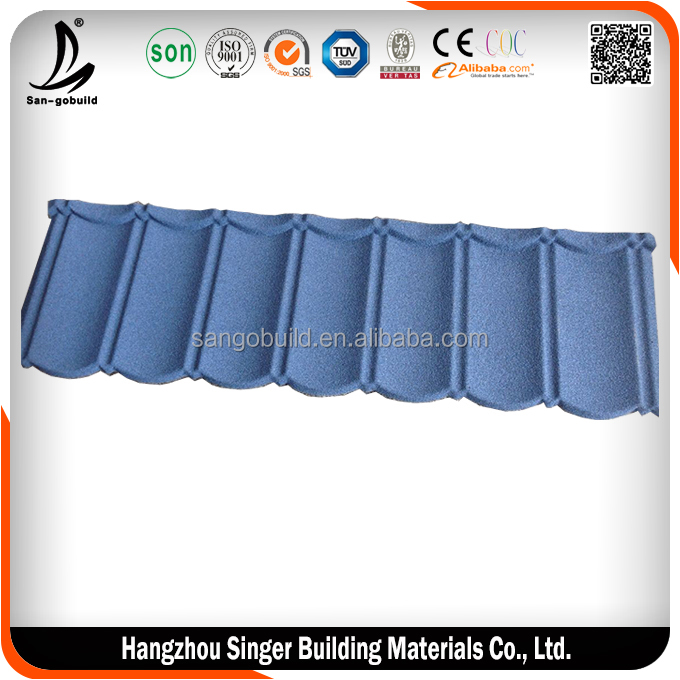2015 new design blue korean roof tiles, hot sale purple roof tile