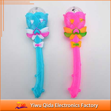 wholesale colorful magic lotus flower plastic led stick with rotating ball