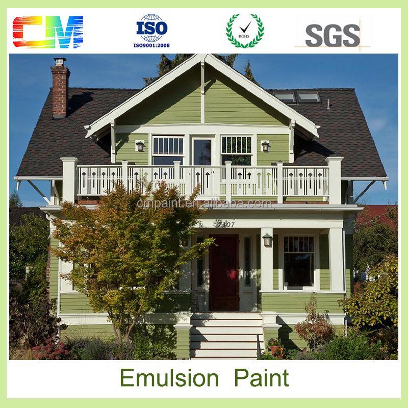 Building outdoor house waterborne pure acrylic resin emulsion latex exterior wall paint with high quality