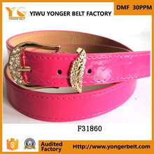 Alloy Buckle belt Pu Rhinestone Fancy Dress Candy Belt For Ladies