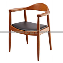 Modern Design Upholstered Ash PP Seat Wood Chair