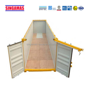 Two removable steel hard top 40ft open top shipping container