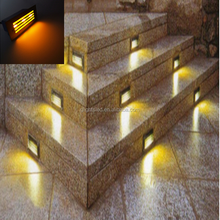 Aluminum outdoor 1W stair recessed Led exterior corner foot step light