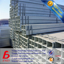 Q235B STEEL PROPERTIES GALVANIZED SQUARE STEEL PIPE FOR BUILDING