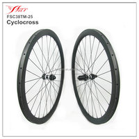 CX road wheels 38mm tubular carbon wheelset 25mm wide cyclocross wheels