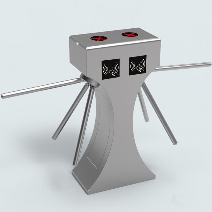 Bi direction access control tripod turnstile mechanism