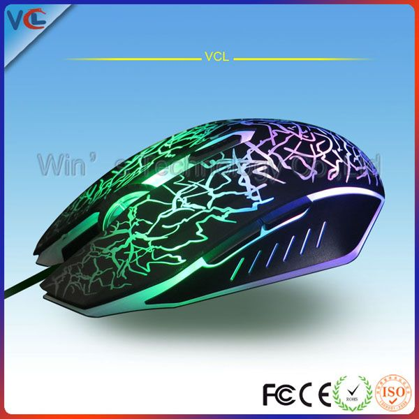 Professional 2400 DPI 6d best gaming mouse with 7 colors light