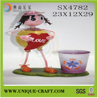 new product alibaba china supplier garden flower pot zinc planter