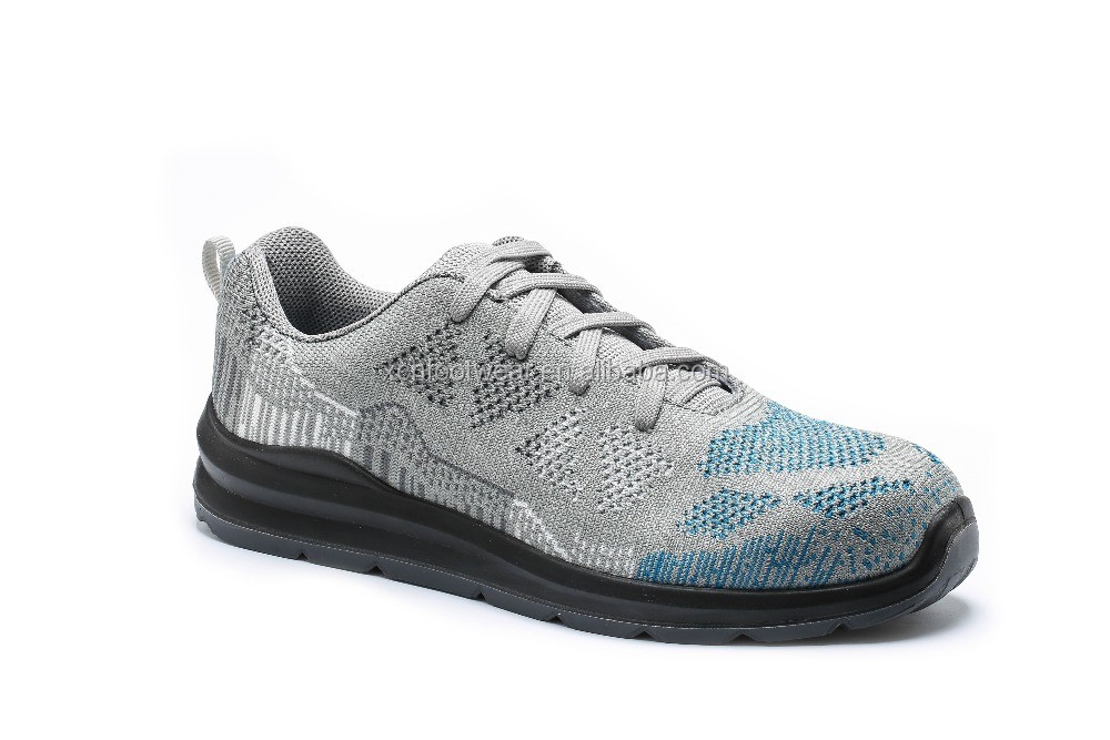 Hot selling fashion fly knit sportive safety shoes