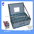 Foldable Nonwoven 9 Pockets Makeup Storage box with mirror
