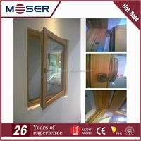 2016 latest design aluminum clad wood windows with tempered glass