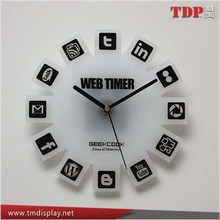 Manufacturer Hot Sale Decorative White and Black Acrylic Wall Clocks for Office and Home