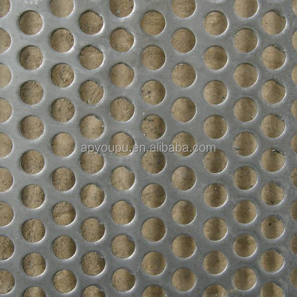 3mm hole 5mm pitch Galvanized Steel/Stainless Steel Perforated sheet manufacture