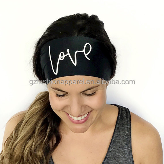 funny letters printing hairband new yoga headband sweat headband