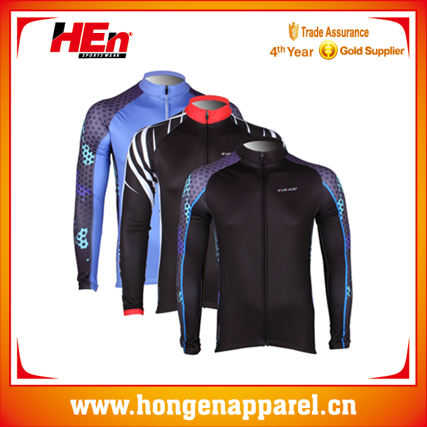 2015 Hongen Thermal Fleece Specialized Cycling Jerseys 4XL Long Sleeve Custom Bike Shirts /International Cycling Jerseys