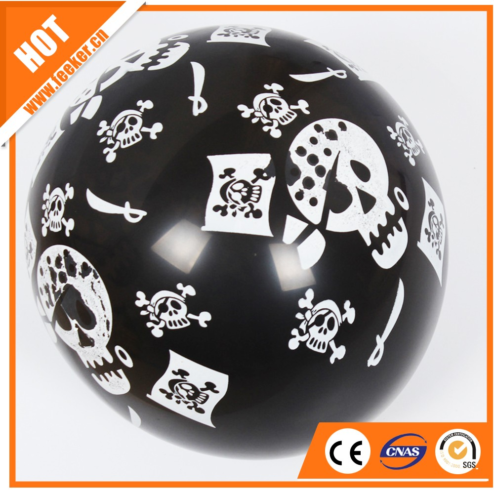 black round shaped happy halloween lighted balloons