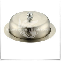 Round Stainless Steel Butter Container with Lid
