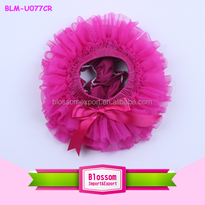 Adorable wholesale baby panties tutu bloomer around ruffle toddler kids newborn chiffon ruffle baby bloomers