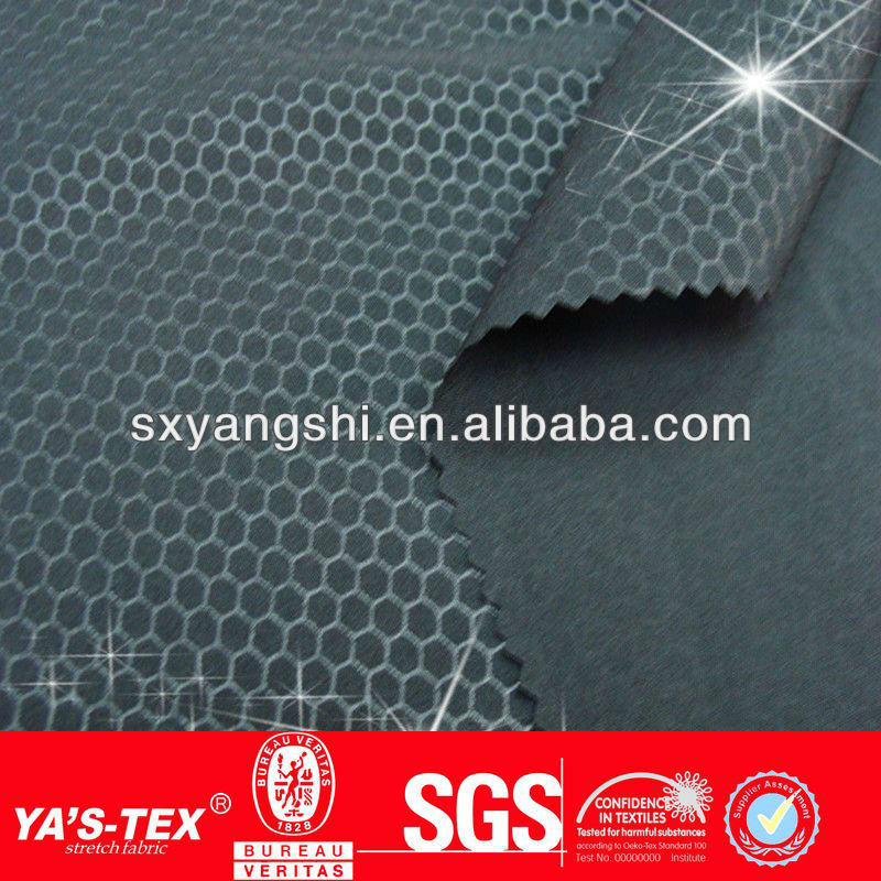 Jacquard grid New fashion 4way stretch woven fabric wholesale