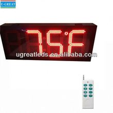 New inventions china wireless RF control large digital clock seconds