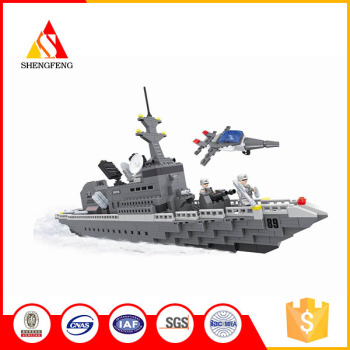 Military theme soldiers fighter battleship big blocks toys