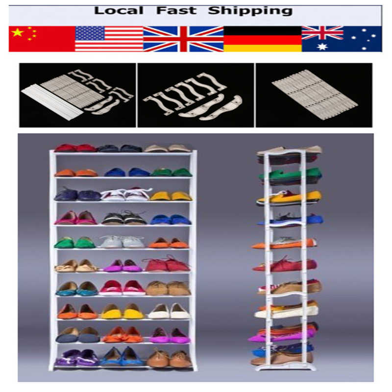 10 Tier Shoe Shoes Rack Holder 30 Pair Shelf Amazing Storage Home Organizer Shoes Storage Furniture