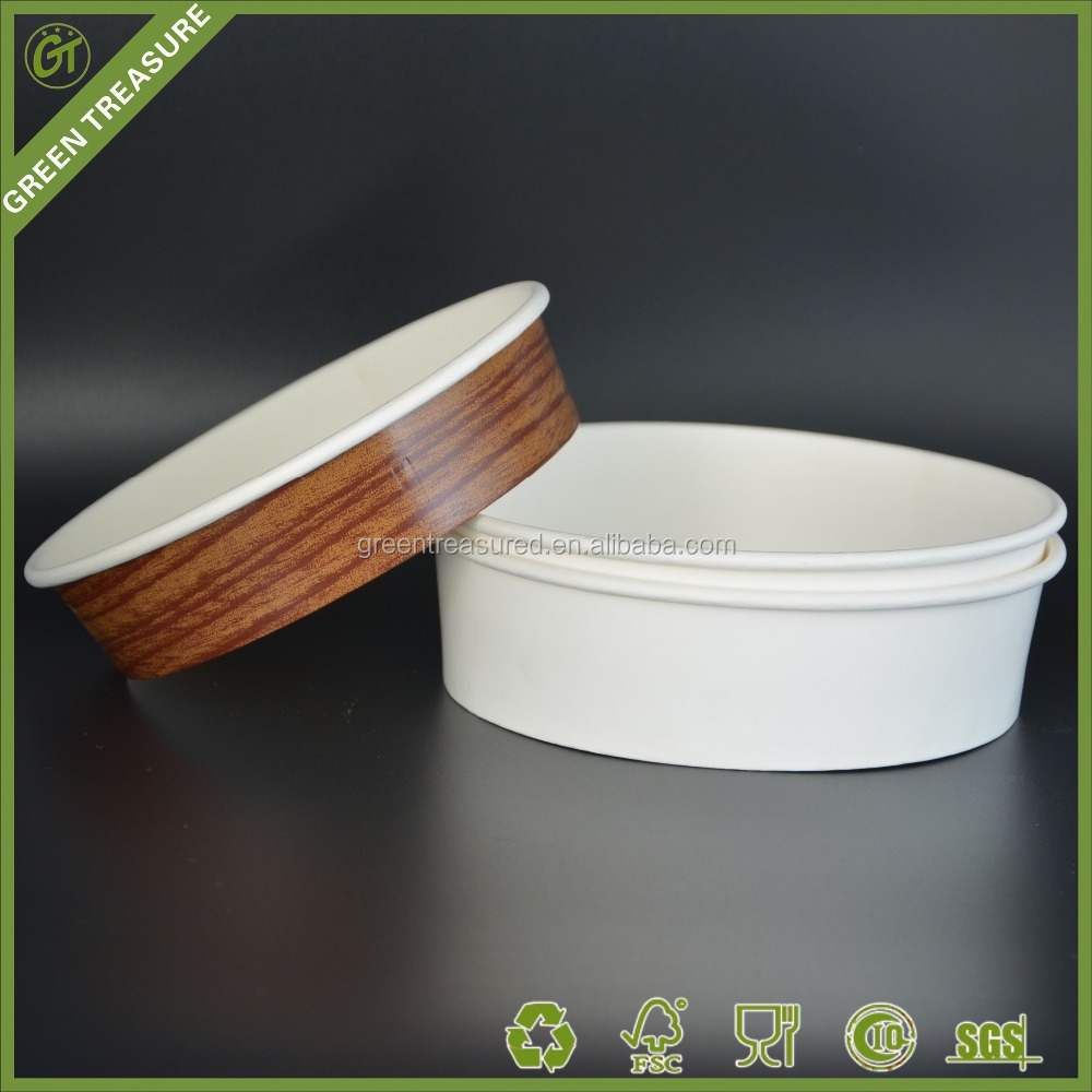 2016 Hubei Wuhan Green Treasure Trading Company Disposable Printed Take Away Paper Salad Bowl