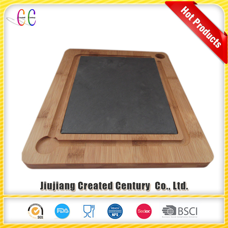 Wooden Frame Cheese Board, Slate cheese Serving Board
