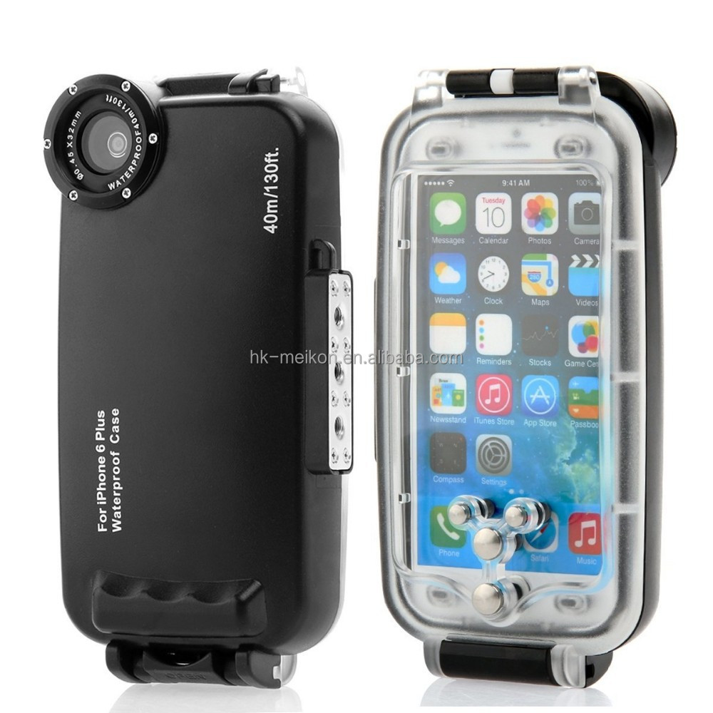 "Meikon 40M Waterproof Case For iPhone 6+ Plus <strong>5</strong>.<strong>5</strong>"" with 32mm thread"