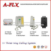 Three-ways Elevator intercoms for single elevators, 1 machine room and 1 security room. for all type elevator spare parts