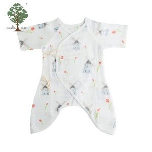 Muslin tree wholesale 100% cotton cheap girl and boy baby clothes