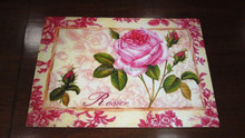 Flower Pattern Drawing Table Mat/PP Or Eva Placemats/Plastic Coffee Table Mats