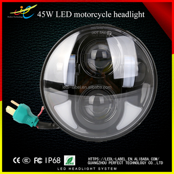 40W h4 high low beam 5.75 led motorcycle headlight Auto Spare Parts For H-arley Davidson