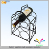 Unique design wrought iron metal black wine display rack for bar