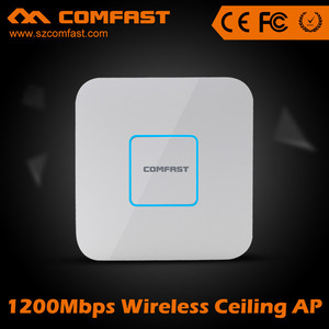 IEEE 802.11ac 1200mbps 48V poe port Router/AP Hotel wifi access point / extender with CE ROHS FCC Approval COMFAST CF-E355AC