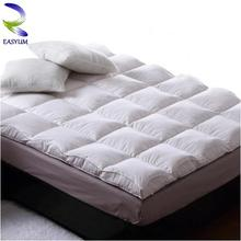 Feather Super Soft Luxury Winter Mattress Pads and Toppers with Microfiber Fillling