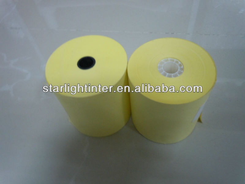 yellow thermal paper